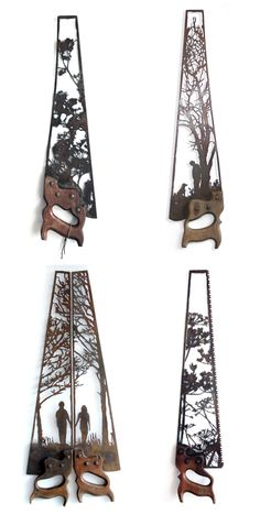 Intricately Rustic Designs Carved into Antique Farm Equipment - My Modern Met
