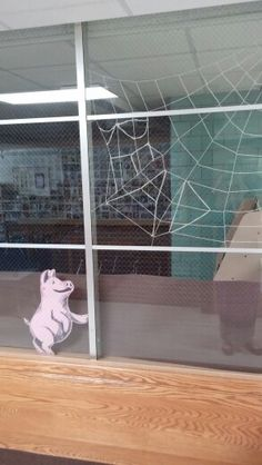 Charlotte's Web window display