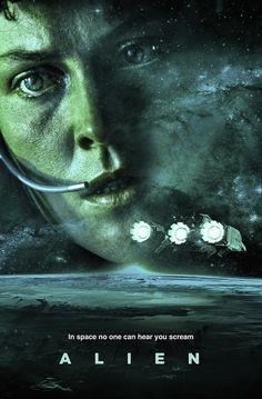 Alien by Colm Geoghegan - Home of the Alternative Movie Poster -AMP- Alien 1979, Horror Posters, Horror Icons, Horror Film, Film Posters, Alien Vs Predator, Alien Sigourney Weaver, Alien Ripley, Man In Black