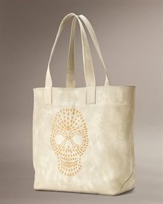 Skull Tote.  Love, love this Frye tote, in black of course!