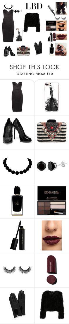 """LBD"" by nikip19902011 on Polyvore featuring moda, Victoria Beckham, Casetify, Dolce&Gabbana, Malìparmi, Giorgio Armani, Elizabeth Arden, LASplash, Mulberry e BaByliss"