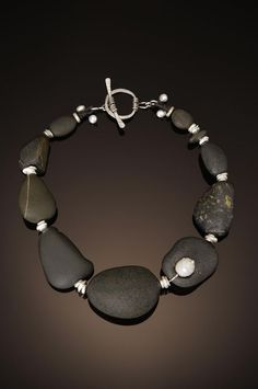 chris carlson studio - beach stone and pearl necklace - Google Search