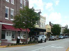 Shops in downtown DeLand, FL