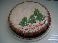 Torta Negra decorada ricas y bonitas como la navidad
