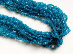 Neon Apatite Chips Neon Apatite Beads Natural by gemsforjewels