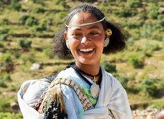 Africa | Portrait of a Tigré/Tigray woman. Ethiopia | © Georges Courreges.