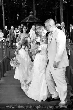 Recessional from the Glen Waterfall! Photo Credit: Krista Patton Photography #brandywinemanorhouse #philadelphiawedding #chestercounty #outdoorwedding