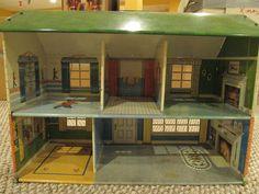 Vintage Marx 1960s 2 Story Tin Dollhouse Doll House w Boys Toy Soldier Room | eBay