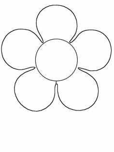 Simple Flower Coloring Page - Cute Flower! | Pre school | Pinterest ...