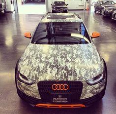 digital camo Audi Allroad