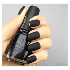 Matte black nails ❤ liked on Polyvore featuring beauty products, nail care, nail treatments and nails