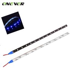 "30 cm Coche Flexible Tira de Luz LED de Alta Potencia 12 V 11.8 ""15SMD Impermeable LED de conducción Diurna Luz Decorativa coche DRL"