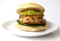 Chicken and Bacon Burger with Avocado Cream by Claire from Sprinkles and Sprouts