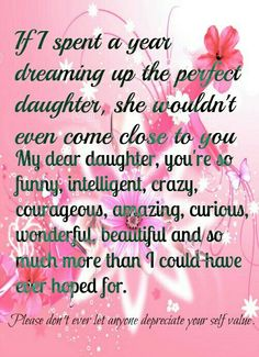 To My Beautiful Girls, Erica & Samantha