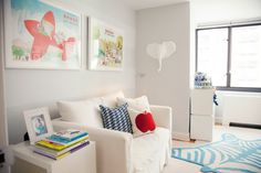 Love this bright space with Babar accents!