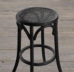 Restoration Hardware Madeleine backless stool black and brown finishes only $109