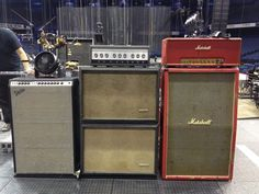 RHCP guitarist Josh Klinghoffer uses a three-amp setup. The vintage Marshall Major provides the basis for his tone with an emphasis on low-end, the Silvertone is run a bit quieter for midrange, and the Fender Super Six is set even quieter and provides top end. All three amps are on at the same time and the effects are run through all three. premier guitar.com