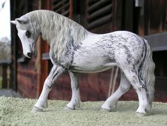 Customized Schleich horses.