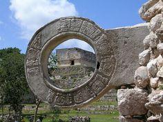 Marcador maya de juego de pelota. Yucatán, Mexico