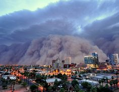 Sand storm about to hit Phoenix. I want to experience this!