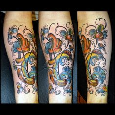rosemaling tattoo - Google Search