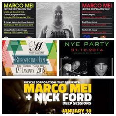Here some flyers of my forthcoming Asia tour !!