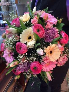 Surprise someone special with one of our fresh flower bouquets. Pink Flower Arrangements, Flower Arrangement Designs, Floral Bouquets, Flower Vases, Flower Pots, Beautiful Rose Flowers, Love Flowers, Silk Flowers, Cemetery Flowers