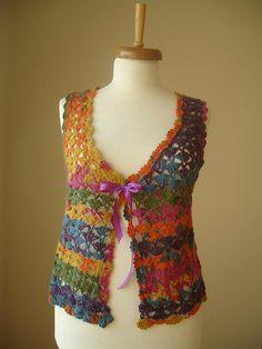 Multicolor Vest By Crochetlab