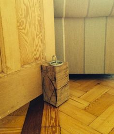 Family Lavisse Doorstop http://www.familylavisse.com/store/p1/Handcrafted_Wooden_Doorstop.html