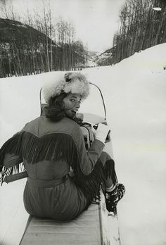 Charlotte Rampling in Vail, Colorado