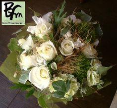花ギフトのプレゼント【BFM】 白にしかだせない明るさと優しさ そんなフラワーアレンジメント