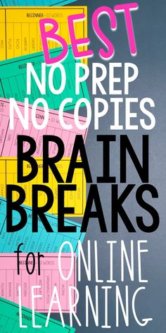 Add these fun brain breaks to your online instruction. Your elementary or middle school students will love the games and activities in this collection of brain breaks. Use them virtually or in the socially distanced classroom. They work great as warm-ups, lesson extenders, or closures. Your students will the challenges, and you'll love how engaged students are in their online learning!