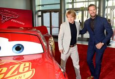 "Owen Wilson Photos - Actors Owen Wilson (L) and Armie Hammer attend  the premiere of Disney and Pixar's ""Cars 3"" at Anaheim Convention Center on June 10, 2017 in Anaheim, California. - Premiere of Disney/Pixar's 'Cars 3' - Red Carpet"