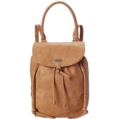 Roxy Room Mate Backpack (Lark) Backpack Bags ($54) ❤ liked on Polyvore featuring bags, backpacks, handle bag, backpack bags, flap backpack, beige backpack and rucksack bags