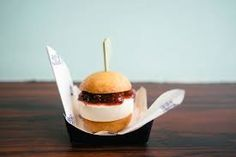 For one day only, House of VANS teams up with Little Bao serving a limited set of a beef burger bao, mirin caramel furikake fries and PBJ ice cream sandwich bao Little Bao, Baby Food Recipes, Healthy Recipes, Bao Buns, Burger Bar, Cafe Menu, New Menu, Sliders, Sandwiches
