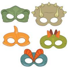 Dinosaurs Digital Printable Party Masks