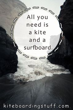All you need is a kite and a surfboard. #kiteboarding