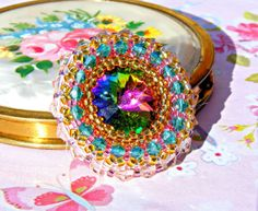 Colorful Crystal Brooch