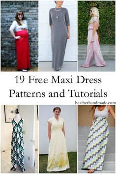 19 Free Maxi Dress Patterns // heatherhandmade.com
