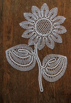 Items similar to Sunflower on Etsy Doily Art, Bruges Lace, Bobbin Lacemaking, Bobbin Lace Patterns, Lace Heart, Lace Jewelry, Needle Lace, Irish Lace, Lace Making