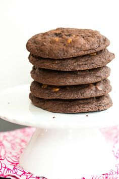 Giant Chocolate-Peanut Butter Chip Cookies - Brown Eyed Baker - A Food & Cooking Blog