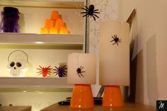 Abajur Aranha Halloween, Table Lamp, Paper, Home Decor, Spider, Diy, Ideas, Decoration Home, Room Decor
