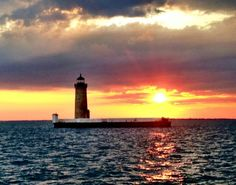 Lighthouse at Muscamoot Bay in Lake St. Clair, Harsens Island, MI