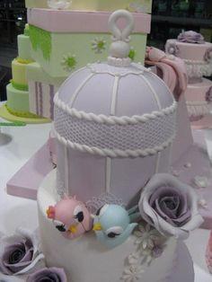 torta wedding di Omar Busi  Magic Decor gabbietta e uccellini