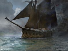 Shadowed Caravel art by Jason Felix