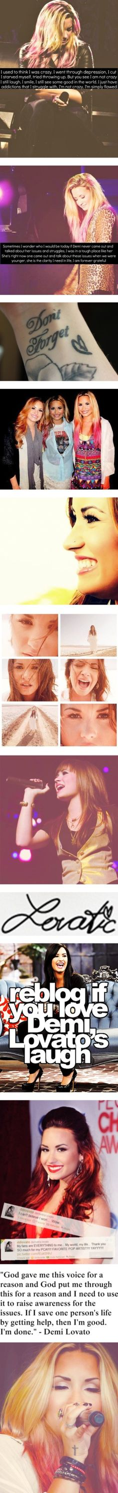 """its a lovatic thing ;)'' I sooo adore Demi :') she's the best person and the greatest role model"