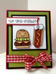 Paper Smooches Grillfriend card alfresco
