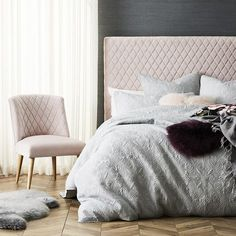 10 of the Best Upholstered Beds & Headboards adairs diamond pink headboard with matching armchair Pink Headboard, Pink Bedding, Headboards For Beds, Round Back Dining Chairs, Mid Century Dining Chairs, Pink Furniture, Bedroom Furniture, Furniture Chairs, Bedhead Design