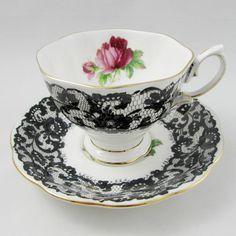 Royal Albert Senorita Tea Cup and Saucer Black