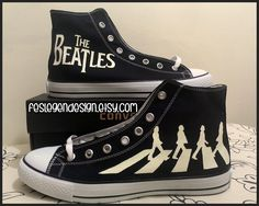 converse beatles | The Beatles The Beatles 'Abbey Road' Custom Converse / Painted Shoes